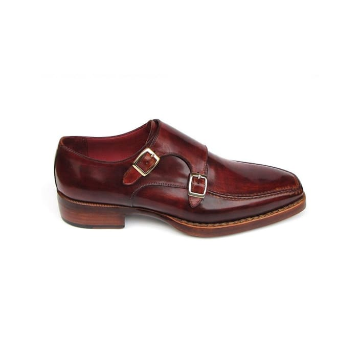 Paul Parkman Mens Double Monkstrap Goodyear Welted Shoes (Id#061-Brd) Men - Shoes - Oxfords