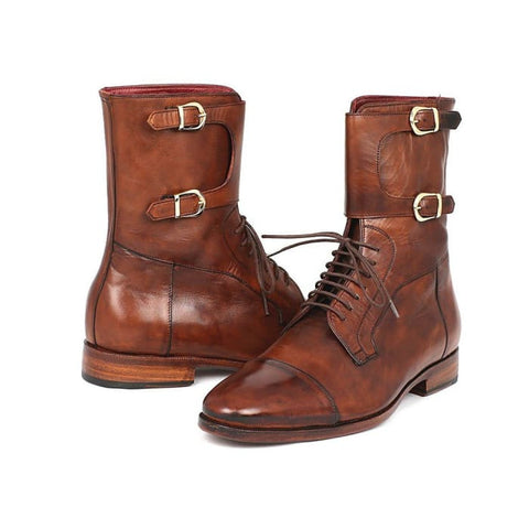 Paul Parkman Mens High Boots Brown Calfskin (Id#f554-Brw) Men - Shoes - Boots