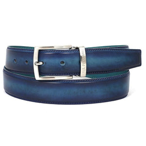 Paul Parkman Mens Leather Belt Dual Tone Blue & Turquoise (Id#b01-Blu-Trq) Men - Accessories - Belts