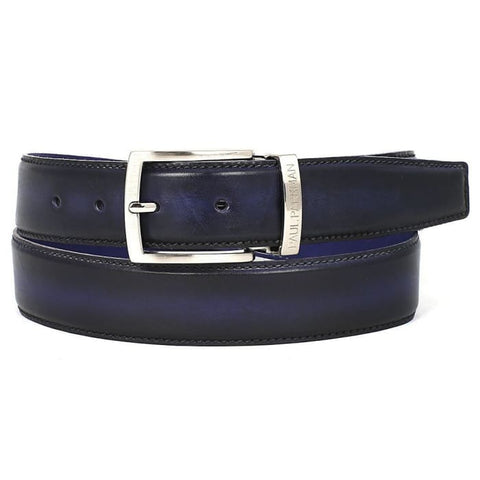 Paul Parkman Mens Leather Belt Dual Tone Navy & Blue (Id#b01-Nvy-Blu) Men - Accessories - Belts