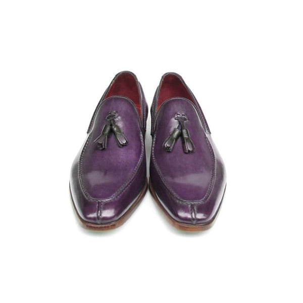 Paul Parkman Mens Tassel Loafer Purple Leather (Id#083-Purp) Men - Shoes - Loafers & Drivers