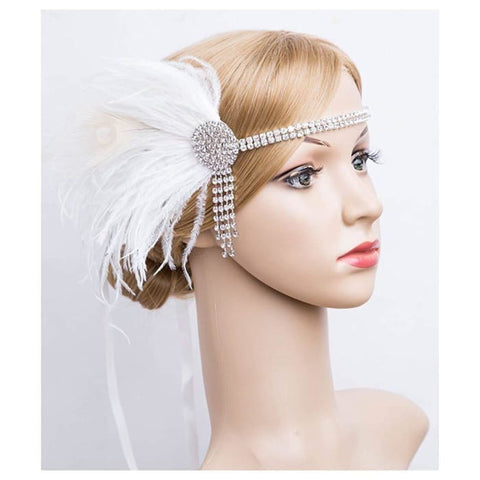 Peacock Headband Flapper Headbands 1920s Great Gatsby Inspired Crystal Headband Headbands