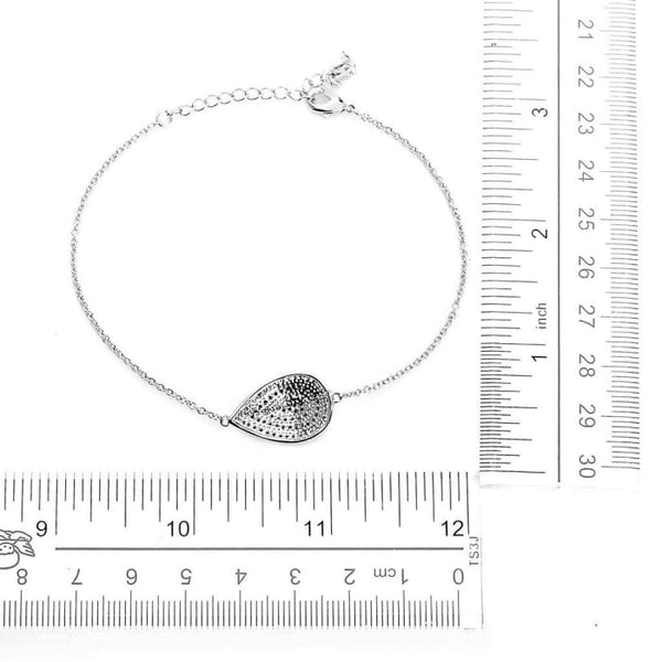 Pear Evil Eye Silver Bling Bracelet Women - Jewelry - Bracelets