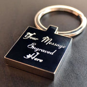Personalised Square St. Steel Keyring Photo Engraved Free P&p Fathers Day Gift! Modern (1970-Now)