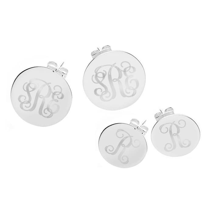 Personalized Monogram Or Initial Earrings In Silver From Shoponlinedeals