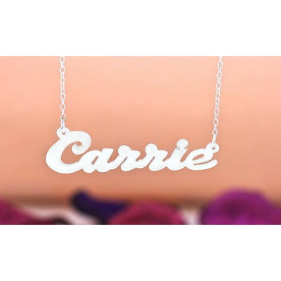 Personalized Name Necklace In Sterling Silver Plated