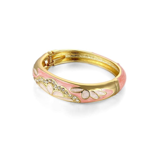 Pink Flora Enamel Bangle Women - Jewelry - Bracelets