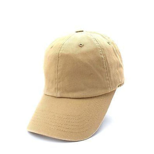 Plain Solid Washed Cotton Baseball Cap Caps Curved Brim Blank Hat Polo Style New Hats