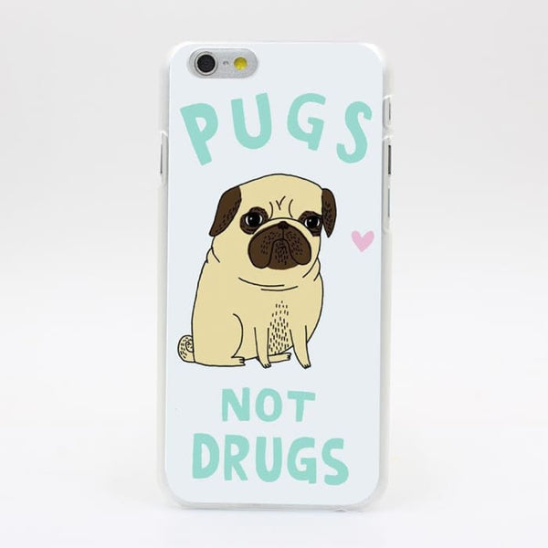 Pugs Not Drugs On Hard Case Phone Bags & Cases
