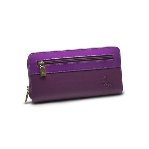 Purple Leather Zip Wallet - Robin Women - Accessories - Wallets & Small Goods