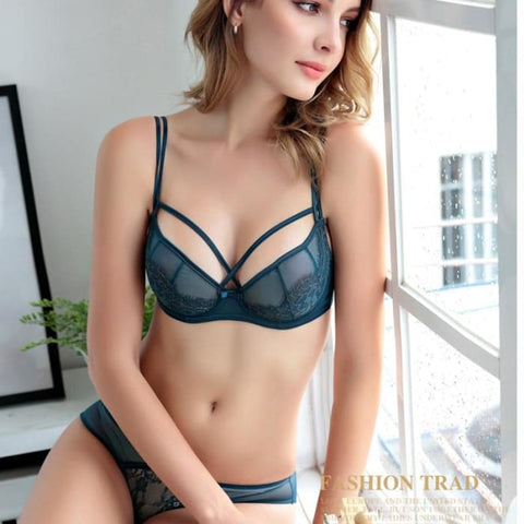 c8a50abaae Push Up Bra Sets Transparent Bra And Panty French Romantic Intimate Underwear  Set