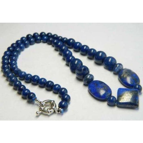 Real Natural Blue Egyptian Lapis Lazuli Beads Necklace Jewelry Sets