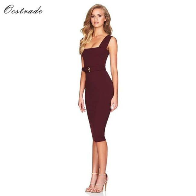Red Wine Womens Ladies High Quality Dresses Burgundy / Wine / Pp / China Dresses
