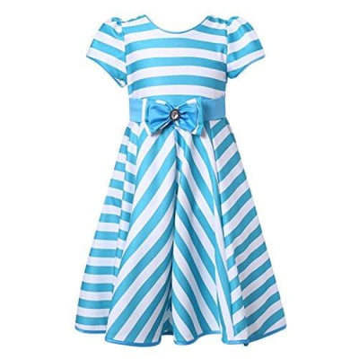 Richie House Girls Striped Party Dress Size 3-12Y Rh2226 Back To Richie House Store