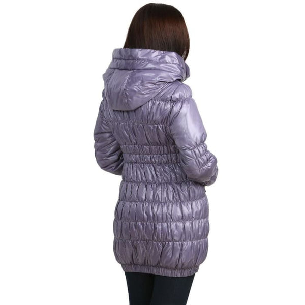 Sandra Demi-Season Coat in lavender
