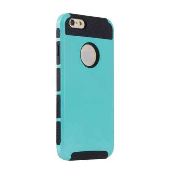 Shockproof Dual Layer Tpu Hybrid Armor Pc Hard Back Cover Slim Phone Case For Iphone 6 6S 4.7 Inch +Screen Protector+Stylus Pen Azury Phone
