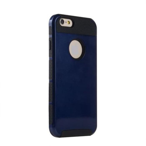 Shockproof Dual Layer Tpu Hybrid Armor Pc Hard Back Cover Slim Phone Case For Iphone 6 6S 4.7 Inch +Screen Protector+Stylus Pen Dark Blue