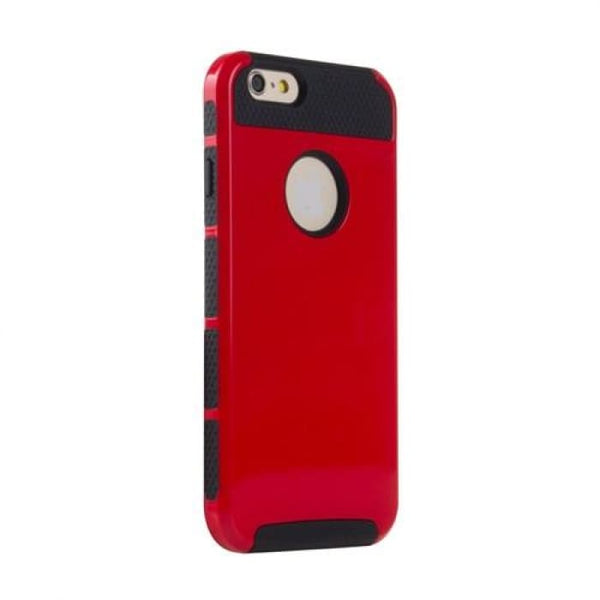 Shockproof Dual Layer Tpu Hybrid Armor Pc Hard Back Cover Slim Phone Case For Iphone 6 6S 4.7 Inch +Screen Protector+Stylus Pen Red Phone