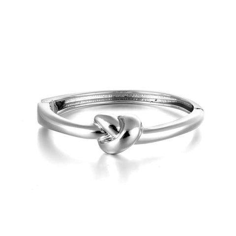 Silver Knot Bangle Women - Jewelry - Bracelets