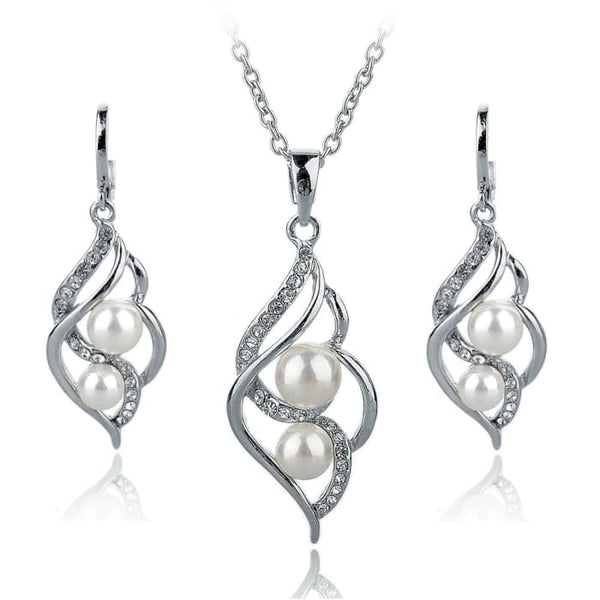Simulated Pearl Indian Wedding Jewelry Sets For Women Bridal Jewelry Sets