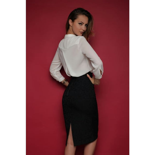 Skirt FH30070 color: black jacquard