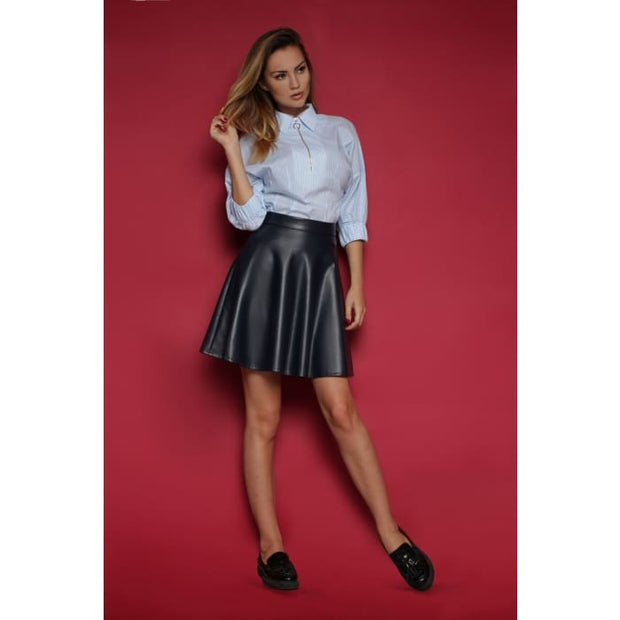 Skirt FH30091 eco leather color: dark blue