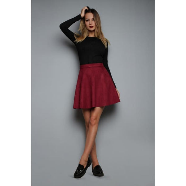 Skirt FH30313 eco suede color: Marsala