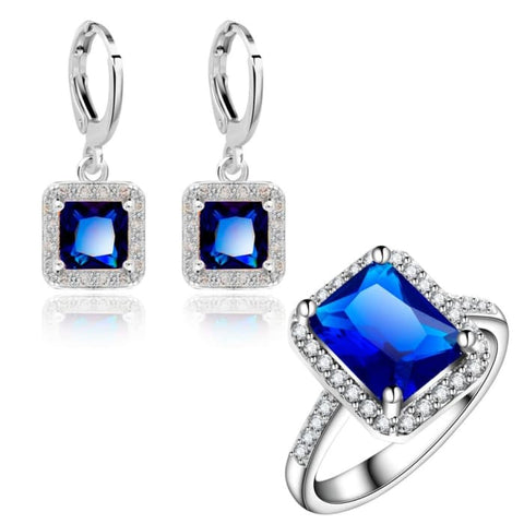 Square Design Jewelry Sets Elegant Womens Fashion Earrings Jewelry Sets