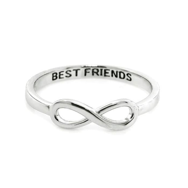 Stackable Hidden Message Infinity Rings In Sterling Silver