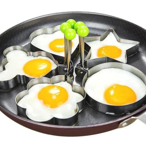 Stainless Steel Egg Mold Set 5Pcs Home & Garden