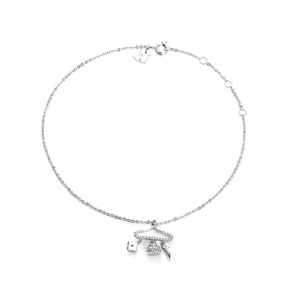 Stylista Silver Plated Bling Anklet Women - Jewelry - Bracelets