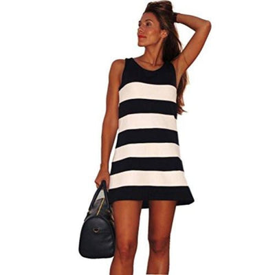 Sunward(Tm) Sexy Women Stripe Sleeveless Short Mini Club Dress Back To Search Results For Woman Dre