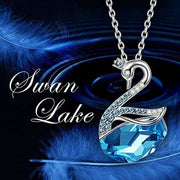 Swan Lake Necklace Made With Swarovski Crystals Back To Lady Colour Store