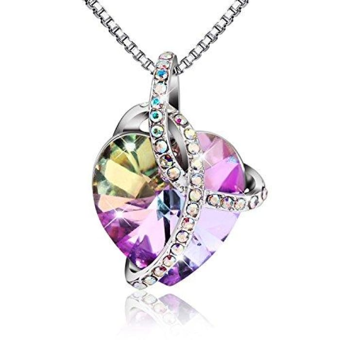 Swarovski Crystal Heart Shaped Pendant Jewelry