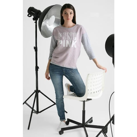 Sweatshirt Evelina pink print color: pink Maternity