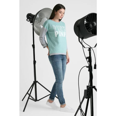 Sweatshirt Evelina pink print color: mint Maternity