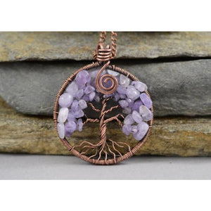 Tree-Of-Life Pendant Copper Wire Wrapped Pendant