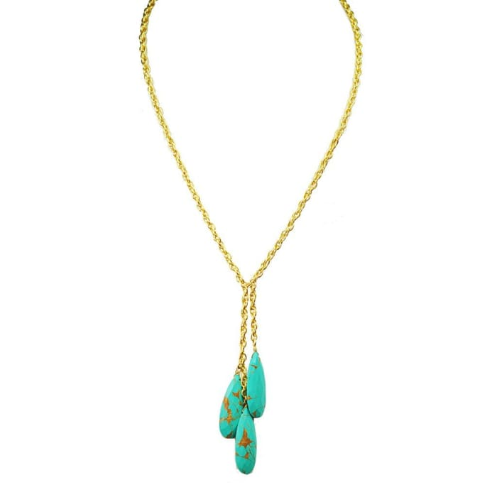 Triple Turquoise Necklace Women - Jewelry - Necklaces