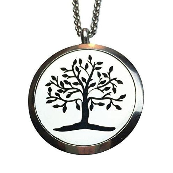 Ultimately Essential Oil Diffuser Necklace -Elegant Tree Of Life Aromatherapy Locket/pendant -Hypo Allergenic Stainless Steel - Wear Your