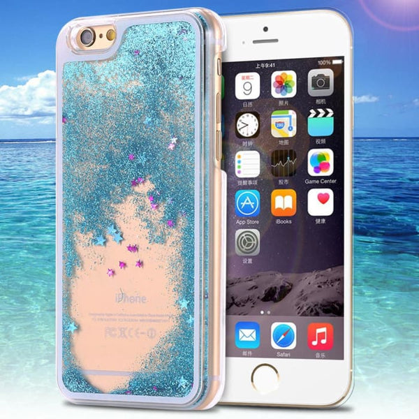 Ultra Thin Clear Back Case For Iphone 6 Plus 5.5 Inch For Apple6 4.7 Liquid Glitter Bling Sand Star Quicksand Mobile Phone Cover Phone Bags
