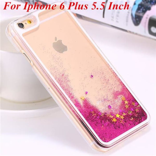 Ultra Thin Clear Back Case For Iphone 6 Plus 5.5 Inch For Apple6 4.7 Liquid Glitter Bling Sand Star Quicksand Mobile Phone Cover Star