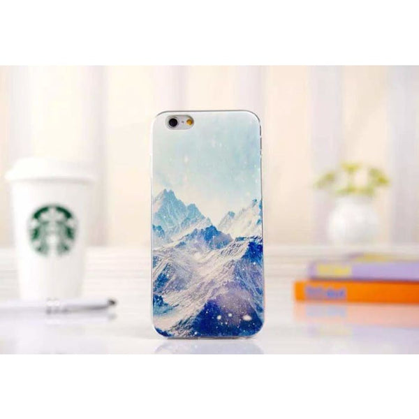 Ultra Thin Soft Scenery Mountain Case Cover For Apple Iphone 6 Case Luxury Series Fashion Transparent Back Cover For Phone6 4.7 Style5 Phone