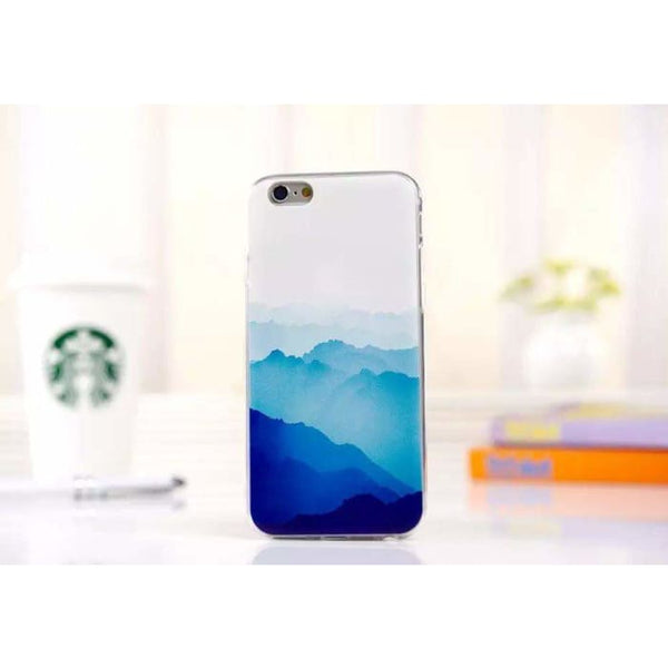 Ultra Thin Soft Scenery Mountain Case Cover For Apple Iphone 6 Case Luxury Series Fashion Transparent Back Cover For Phone6 4.7 Style7 Phone