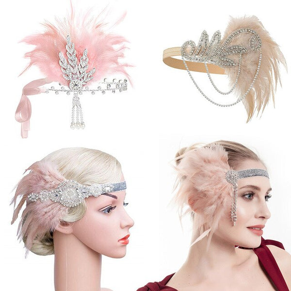 1920s Flapper Headband Roaring 20s Accessories Great Gatsby party Wedding Headpiece Hair Accessories