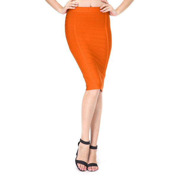 Adyce 2019 New Summer Sexy Women Pencil Skirt Solid Color Knee length Elegant Celebrity Party Prom Bodycon Bandage Skirts