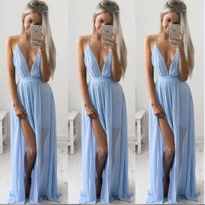 V-Neck Slit Dress Off The Shoulder Dress Dresses