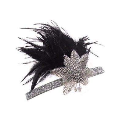 Vintage Black Silver Headpiece Flapper Headband 1920S Back To Results