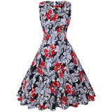 Vintage Tea Dress 1950S Floral Spring Garden Retro Swing Prom Party Cocktail Dress Cocktail