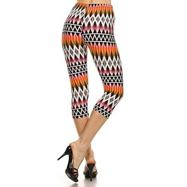 Vivid High Waist Capri Leggings