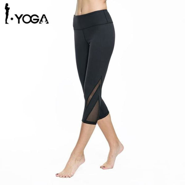 Women Fitness Yoga Pants Gym Sports Slim Sexy Mesh Leggings Black / S Yoga Pants